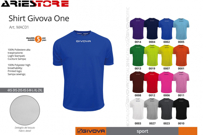 d955a0172 Shirt Givova One MAC01